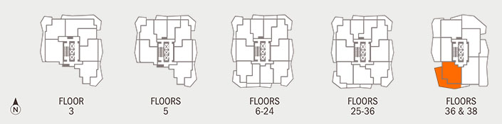 Floorplan CANTERBURY Key