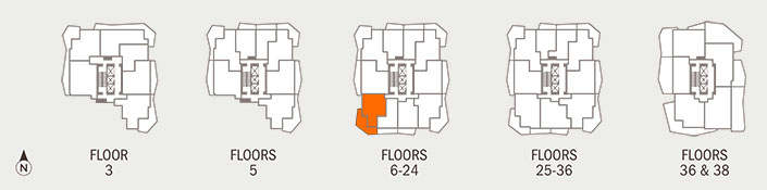 Floorplan E Key